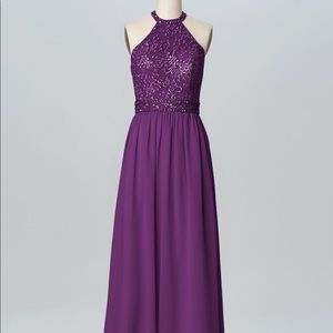 Plum Evening Dress. LIKE NEW!! Only worn once!